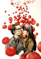 WatchmeN: 99 Red Balloons by sweetlittlekitty