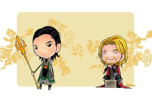 loki _ thor by Azu-graph