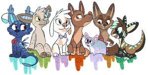 All the ocs by seductive-woof