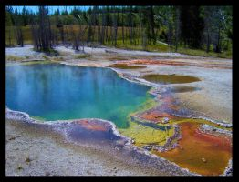 Rainbow Hotspring by SpiritsRebirth