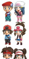 Pokemon Player Characters Batch 1 by cosplayscramble