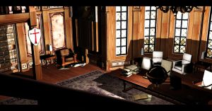 Library Room 1 | Croft Manor by Rockeeterl