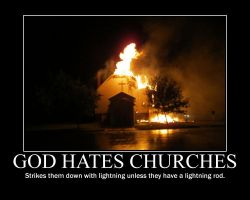 God hates churches by fiskefyren