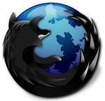 Blue and Black: Firefox by X-a-l-a-n
