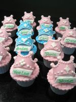 Princess Tiara Cupcakes by Sliceofcake