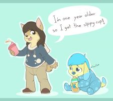 Bottles and Sippy Cups by Hourglass-Sands