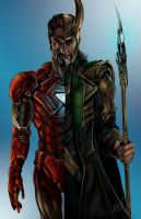 Iron-Man / Loki by NoSafeHaven