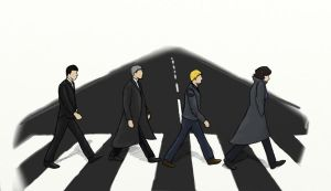 Abbey Road - Sherlock Style by SherlockROCKSmySOCKS