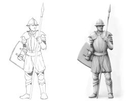 Medieval Soldier Concept by SHAWCJ