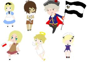 -Hetalia Chibis- by Mistwalk