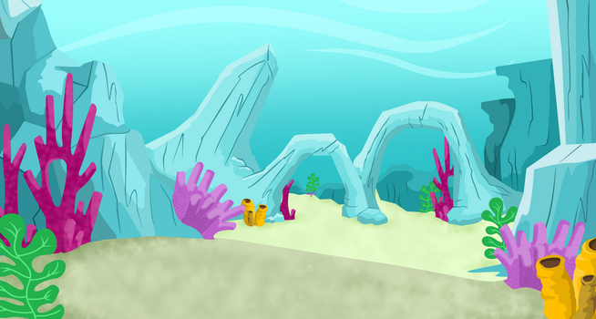 Underwater Background Vector (from Pinkie Tales) by Magpie-pony