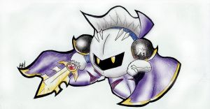 Meta Knight Doodle by dragon2000200