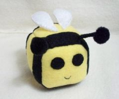 Bee Cube Plushie by Cube-lees