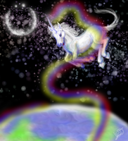 Space Unicorn by e-pona