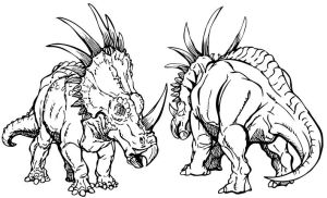 styracosaurus double view by stvnhthr
