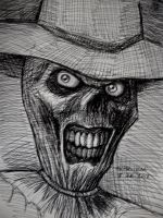 The Scarecrow (pen sketch) by myconius