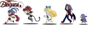 Disgaea characters finished by Digiko