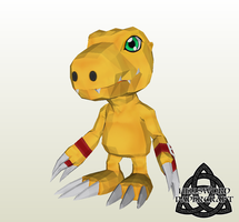 Digimon Agumon (Savers/Data Squad) Papercraft 2 by HellswordPapercraft