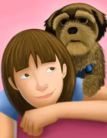 me and my puppy by claralimpk