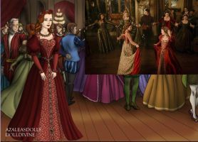 Katherine Howard- Rose Gown by EriksAngelOfMusic22
