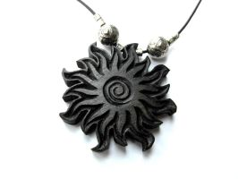 BLACK SUN PENDANT by MassoGeppetto