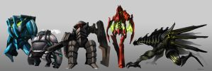 Mecha Designs by Rousteinire
