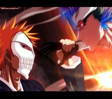 Ichigo vs Grimmjow - Collab by Tremblax
