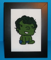 Baby Hulk Cross Stitch by chujo-hime