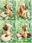 :: Mini Applejack Plushie :: by Fallenpeach