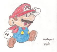 Paper Mario Drawing by MarioSimpson1