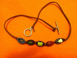 Clay Bead Necklace by sazame-kusaka