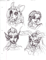 WildStar sketches by AmethystSadachbia