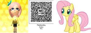Tomodachi Life Fluttershy by 1sthi1357