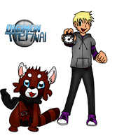 Digimon the Final - Ryo Shimizu and Ruemon by Phewmonsuta