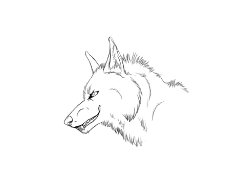 Free outlines - Wolf smile by Kittywoelfchen