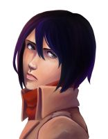 Another Mikasa Portrait by Jazzie560
