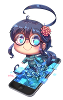 [Commission] Chibi Glasses Fuuko by Porforever