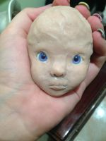 Sculping my first bjd face by AokiZuDolly