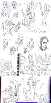 final sketchdump of 2013 by rocketdave