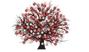 Free vector blossomed tree by T3hSpoon
