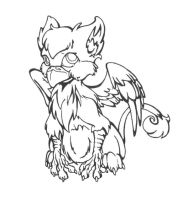 Baby Griffin by Wazaga