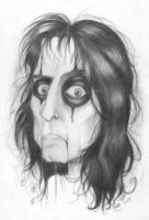 Alice Cooper caricature by Debora-Muniz