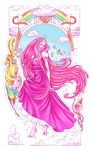 Princess Bubblegum Nouveau by Code-Blu