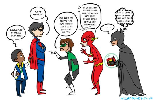 Justice League by Microbluefish