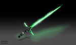 Green tri-blade lightsaber by ChingORyu
