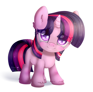 Twilight Sparkle filly (My Little Pony) by Pony-Ellie-Stuart