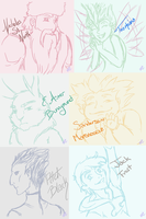 Quick RotG Sketches by Neko-Spiate