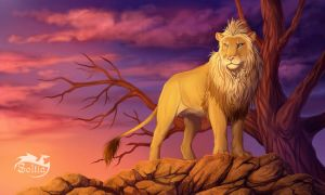 The king of the Savannah by Soltia