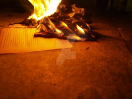 burning book pages .4. by kittykatty89