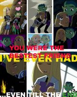 BeastBoy and Terra TILL THE END by TheLegacyofRomR